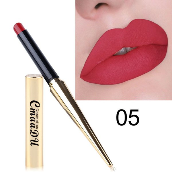 CmaaDu Gold Lip Gloss Matte Sexy Nonstick Cup 12 colors Long Lasting Waterproof Lipstick silky texture durable make up Cosmetic Beauty