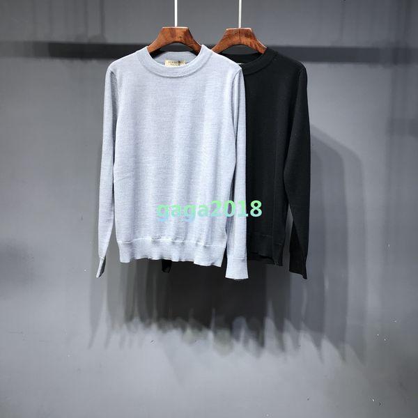 Frauen Mädchen Langarmpullover 2colros stricken Pullover Strickjacke Rundhals T-Shirt Jacquard Pullover Bluse Outwear Hemden schlank lose