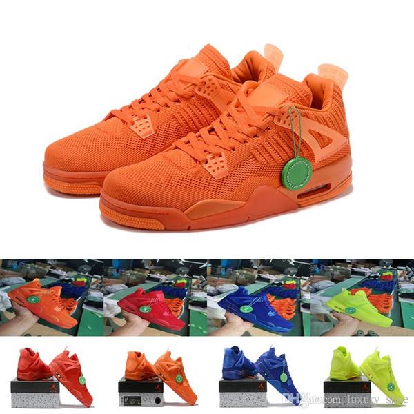 Großhandel Track Item 4 Nike Air Jordan Retro 4 Herren Kleid Schuhe Herren Luxus Designer Sneakers Mode Leder Freestyle Herren Designer Trainer Online