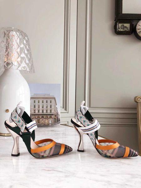 Hot Fashion Luxury Designer women shoes high heels pumps wedding high heels shoes bride two-tone heels talons hauts Women dress shoes