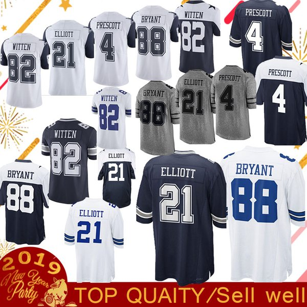 Dallas Jersey Cowboys 4 Dak Prescott 21 Ezekiel Elliott 55 Leighton Vander  Esch 90 DeMarcus Lawrence 81464d7b1