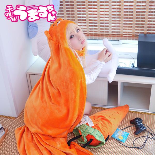 15PCS Umaru-chan Mantello Anime Umaru chan Doma Umaru Costume Cosplay Flanella Mantelli Coperta Soft Cap Felpa con cappuccio AIJILE