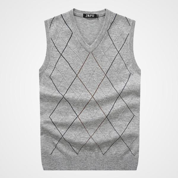 Vender a marca dos homens camisola de lã essencial colete cores sortidas simples camisola de golfe sem mangas plus size grátis rápido