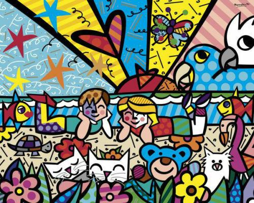 In The Park By Romero Britto Home Decor Handcrafts /HD Print Oil Painting On Canvas Wall Art Canvas Pictures 191031