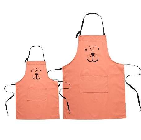 Fashion Lady Women Children Kindergarten Adjustable Cotton Linen High-grade Kitchen Apron For Cooking Baking Restaurant Pinafore