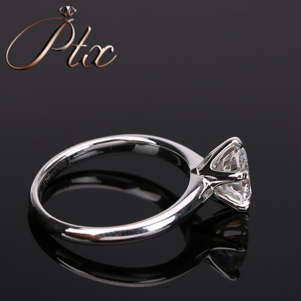 14k white gold High quality beautiful fancy tiny D white moissanite diamond ring for engagement wedding ceremony