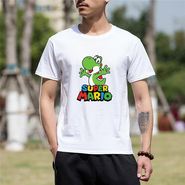 2017 Hot High Quality Cotton Swag Super Mario Bros Yoshi Funny T Shirt for men Comfortable t shirt Casual Short Sleeve Print