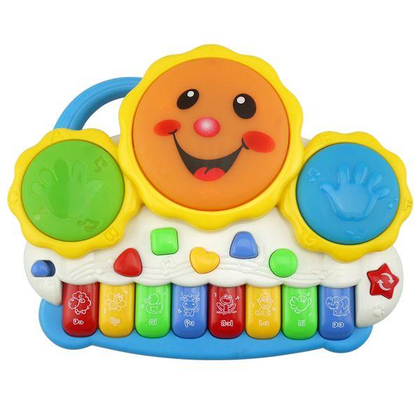 Baby Music Sound Toys suzakoo piano juguete tambor de mano sonrisa de música un pcs color aleatorio juego de niños jugando