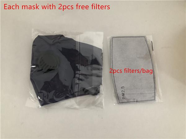 Azul (cada máscara con filtros 2pcs libres)