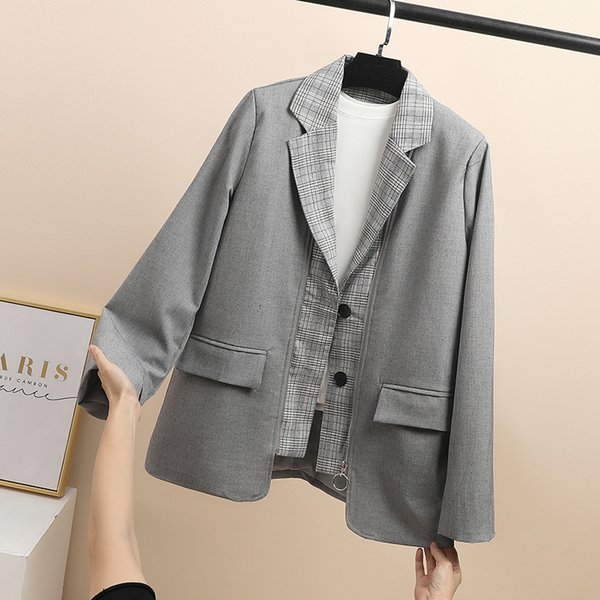 Solid Suit Coat Jacket Women Blazers Female 2019 New Spring And Autumn Suit Jacket Korean Loose Casual British Style