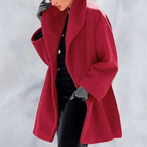 2019 European and American fashion multicolor warm shawl collar coat women's fall and winter cross-border distribution supply