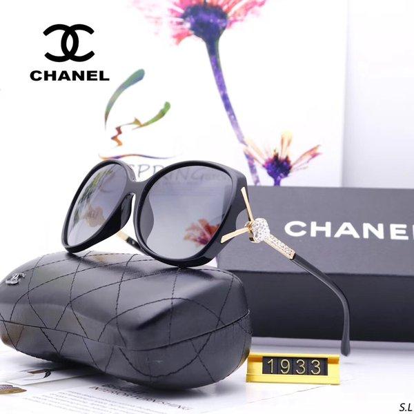 Модель: C1933 2019 новый бренд солнцезащитных очков для мужчин и женщин, мужчин и женщин, вождение высокой четкости с большой оправой солнцезащитных очков HD смолы линзы.