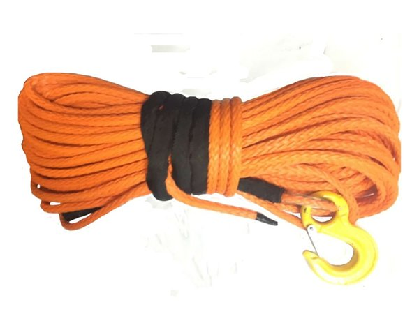 "1/2"" x 100' UHMWPE Rope Synthetic Winch Line With Hook"