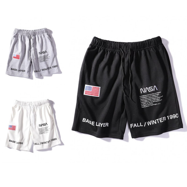 best selling NASA Shorts Mens Short Letter Embroidery Drawstring Summer Designer Pants Men Women Black White Grey Trend Sweatpants Size M-2XL
