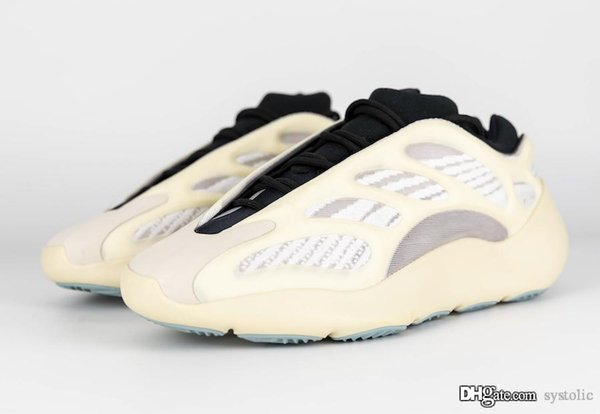 Release Originals 210Yeezy 700 V3 Azael Kanye West Glow In The Dark FW4980 White Running Shoes Man Woman 210Adidas Authentic Sneakers