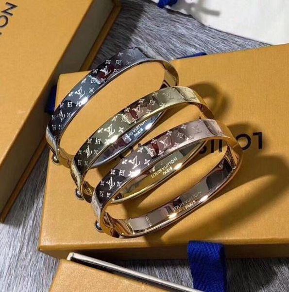 Скульптура логотип золото серебро 316L жесткий браслет с коробкой бренд мужской бр