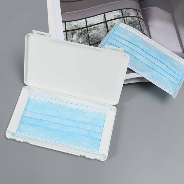 top popular Transparent Disposable Face Masks Dustproof Storage Box Mask Temporary Folder Clip Storage Container Device Fast Shipping 2021