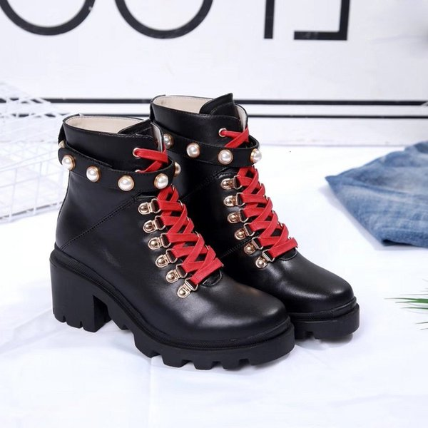 Women Martin Boots Calfskin Leather Spikes Rivet Boot Lace Up Ankle Bottes Booties Australie Bottines Womens Winter Boots 22