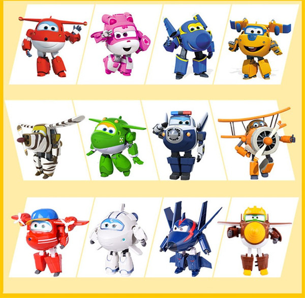 100% Brand Big 15CM ABS Super Wings Toys Deformation Airplanes Transformation robot Action Figures Toys For Christmas gift