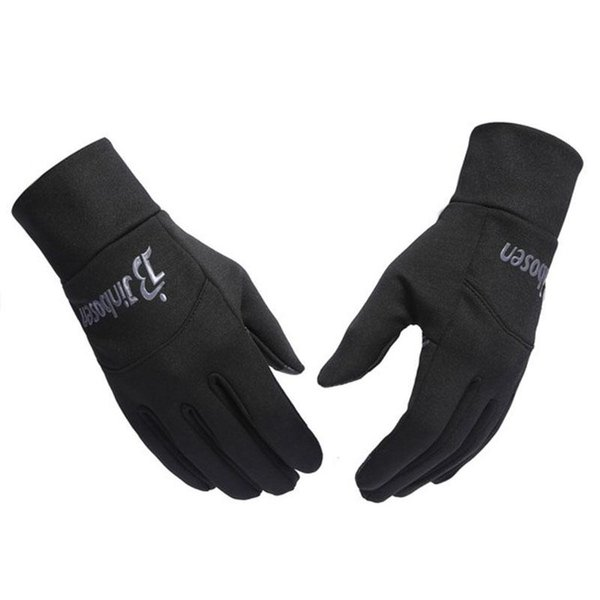 Outdoors windproof running gloves cycling football gym workout gloves luvas guantes touch screen fleece horse riding