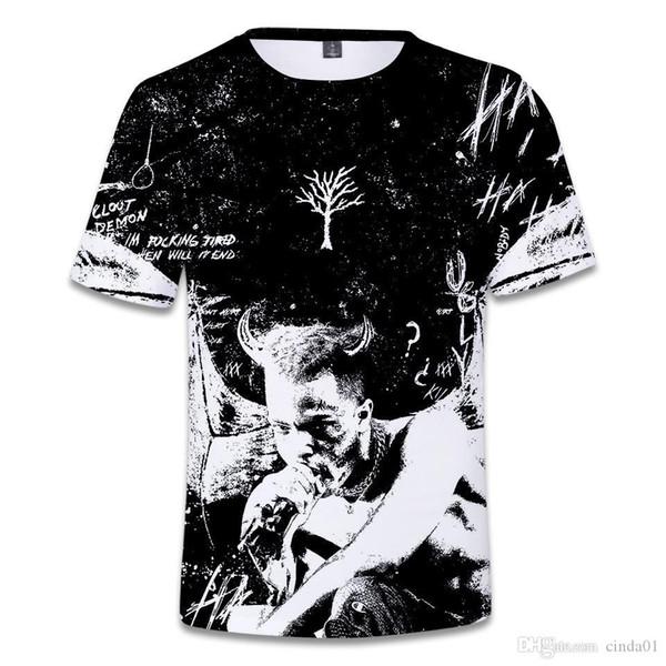 XXXTentacion 3D stampato magliette commemorative estate maschio femmina girocollo manica corta casual designer top uomo donna tees