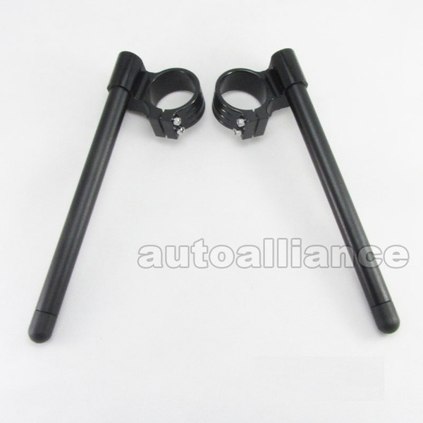 50mm Rise 30mm Clip Ons Manillar para Monster 750 800 900 1000 YZFR1 YZFR6 YZF750R GSX1300R GSXR 600 750 1000 ZX6R ZX10R CBR1000