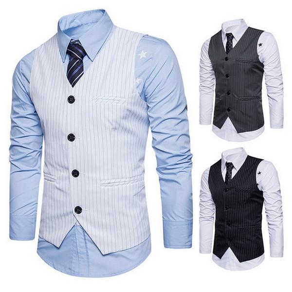 Laamei Men Suit Vest Brand Male Waistcoat Classic England Business Suit Vest Wedding Groom Groomsmen Clothes Fashion EU size