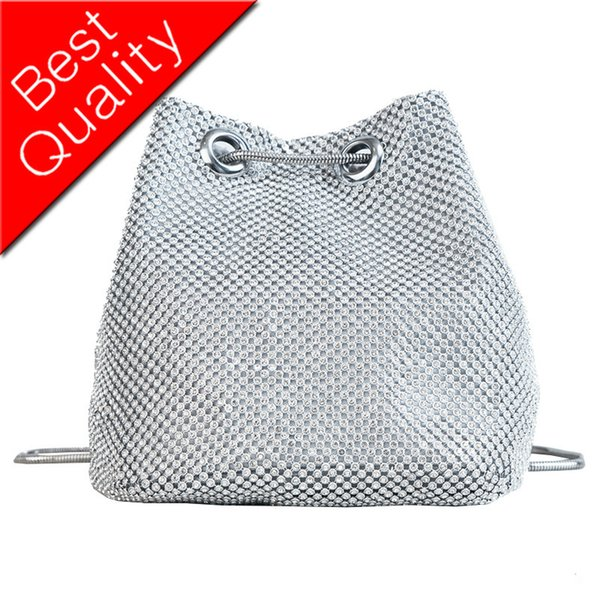 Kadın Tasarımcı Çanta 2018 Moda Yeni Çanta Kaliteli PU Deri Kadın çantası Elmas Kova çanta Zincir Omuz Messenger Çanta