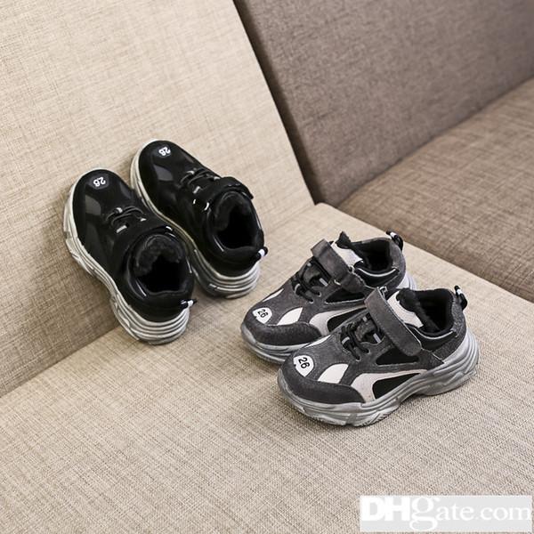 Acheter 2019 Printemps Nouveau Modèle Enfants Année Fille Chaussures Chaussures Mode Édition Coréenne Lettre Enfants Célibataire Et 35 De $30.76 Du