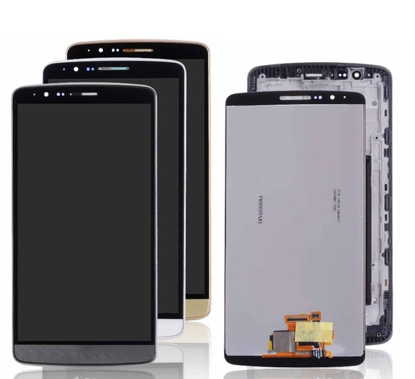 Display for LG G3 LCD Touch Screen Digitizer with Frame Replacement Original D850 D851 D855 Black White Gold