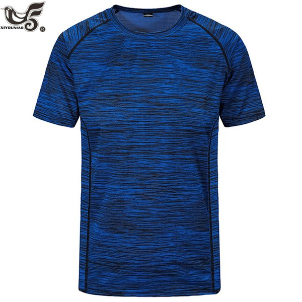 plus size L~8XL Men's Cool Running Workout quick Dry Fitness Moisture Wicking Athletic Compression Sport Training men t-Shirt