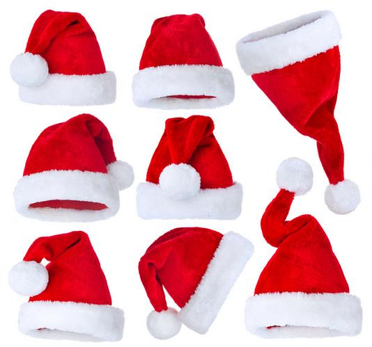 Su misura di alta qualità bello peluche rosso cappello di Natale White Velvet prodotti di Natale per bambini e adulti