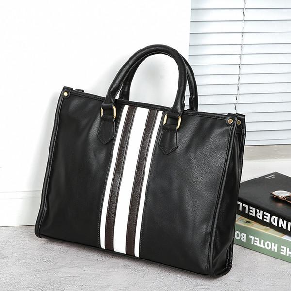 bolsos de los nuevos hombres coreanos empresas británicas bolsos maletín casual de los hombres retro