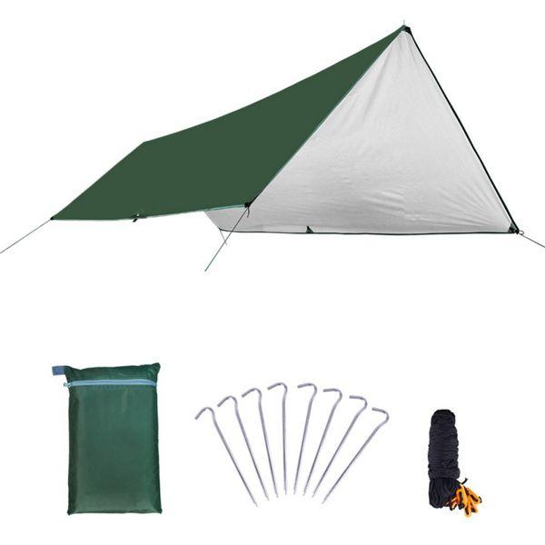 Ultralight Tarp Outdoor Camping Survival Sun Shelter Shade Awning Silver Coating Pergola Waterproof Beach Tent Camping Blanket
