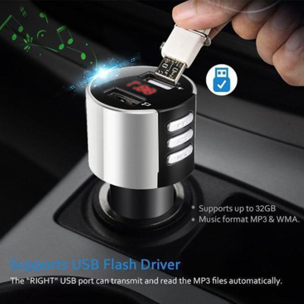 Transmetteur FM sans fil Bluetooth Car Kit lecteur de musique MP3 Radio Port USB
