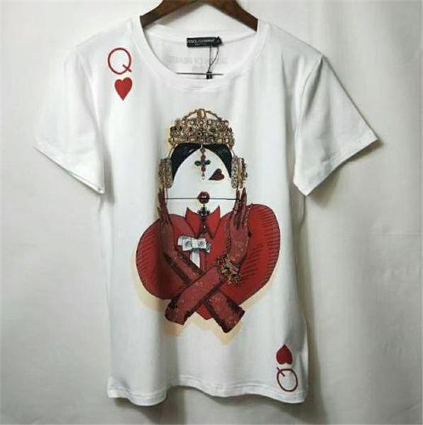Spring Summer Modischer Stil Poker Printed mans Frau T Shirts Baumwolle Kurzarm mans Womans Witcht Hemden