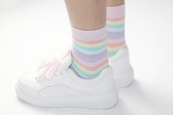 Cotton Prime 6 paia di calze al ginocchio Bambini con cavalli