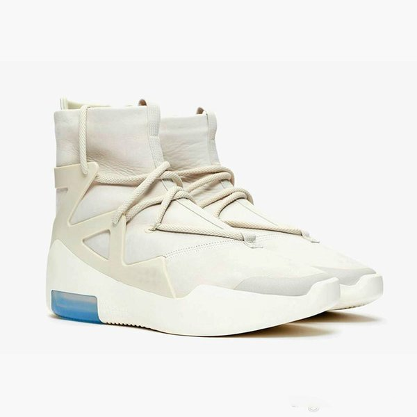 2018 air new arrival fear of god 1 basketball shoes fog boots light bone black sail women sports zoom sneakers 36-45, White;red