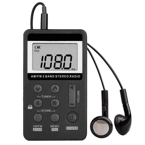 Le migliori offerte Radio tascabile portatile AM FM, Mini sintonizzatore digitale stereo con batteria ricaricabile e auricolare per camminata / jogging / palestra