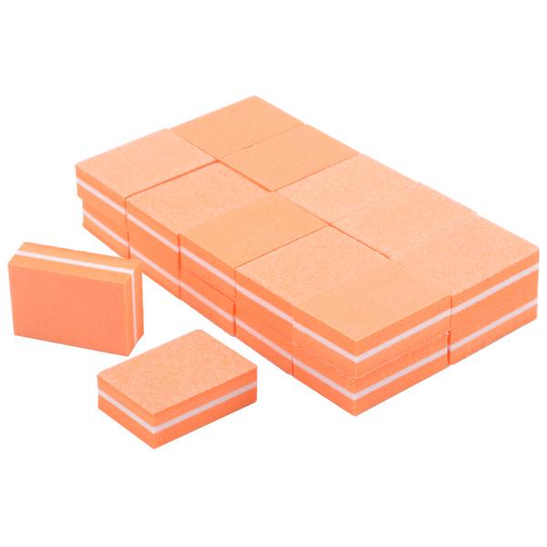 20pcs/lot Mini Orange Nail Buffer Sponge Blocks Professional Nail File Disposable Gel Polish Pedicure Manicure Nail Salon Tools