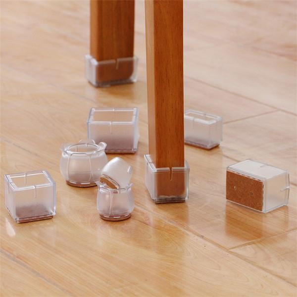 Hot matelas anti-dérapant, coussin de table et de pied, couvre-pied de table et de chaise, protège-jambe transparent Accessoires pour meubles 4922
