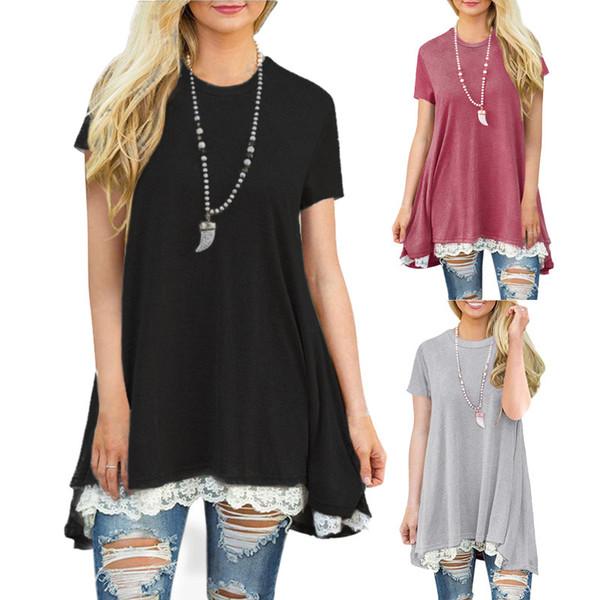 Annelik Gömlek Kadın Gömlek Tasarım Bluzlar Patchwork Yaz Sonbahar Uzun Kollu Giyim Rahat Kazak Gevşek Tee Tops T-Shirt Giyim