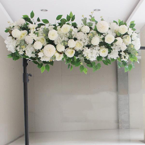 Peonie di seta artificiale di alta qualità Rosa disposizione di fila di fiori forniture per matrimonio arco centrotavola centrotavola forniture fai da te
