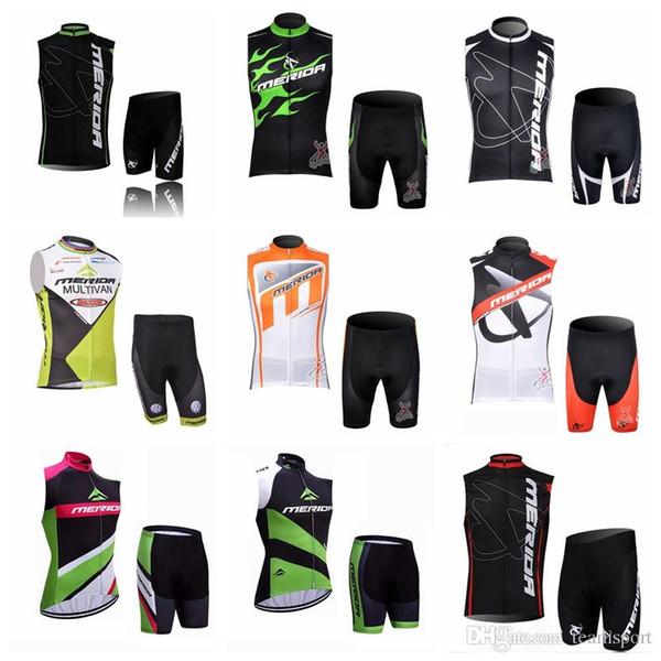 Pantaloncini della maglia MERIDA squadra ciclismo senza maniche maglia imposta Cool Mountain Bike Pantaloncini tuta da bicicletta traspirante Sportswear 840921