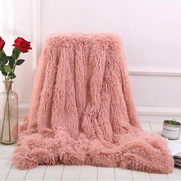 Large Sofa Bed Blanket Cover For Kids Baby Bath Towel Soft Warm Fur Shaggy  Fluffy Throw Plush Blanket Home Winter Warmer Blue Gray Throw Blanket White  ...