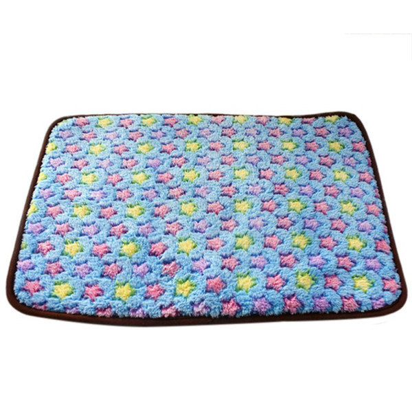 2 In 1 Dog Summer Cool Mat Bamboo Coral Fleece Warm Mat Pet Dog Summer Puppy Cooling Pad Bed Blanket Both Sides Available