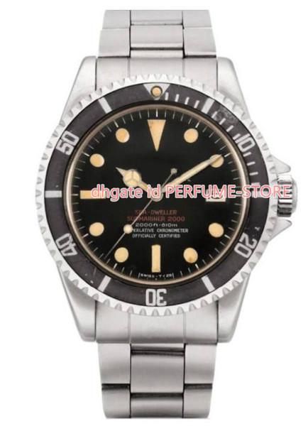 Erkek Lüks Fabrika Vintage 1979 Deniz Dweller Büyük Beyaz Mat Mark I 1665 Çelik 40mm İzle Otomatik Cal.2813 Mekanik erkekler saatler