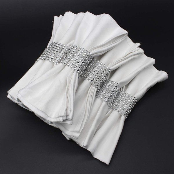 Hot Napkin Ring 120 Pieces Of Napkin Ring Diamond Decoration Suitable for Placement Wedding Reception Dinner or Holiday