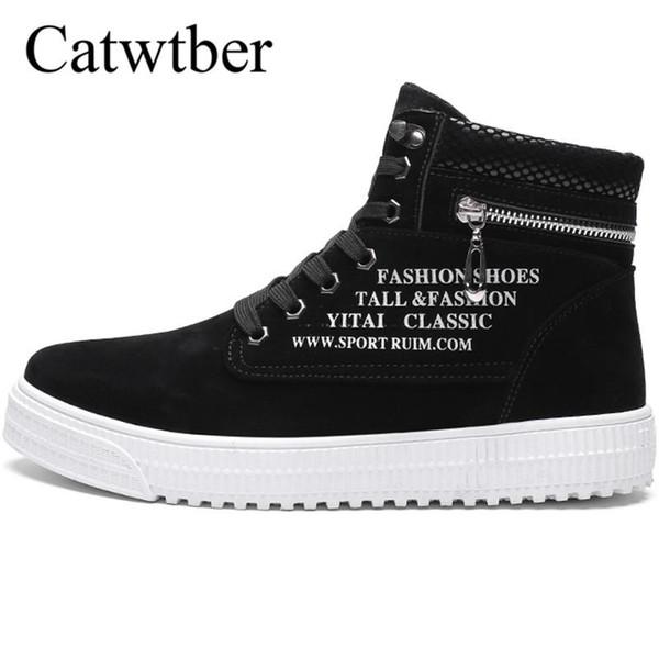 Catwtber Vente chaude extérieure Bottes en suède cheville Bottes Automne Hiver Hommes Chaussures en cuir Chaussures Homme Casual