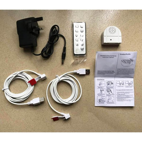 Security Alarm Mobile Phone and Tablet PC Display Stand for Retail Shops or Exhibitions, alarm with 2 sensor cables